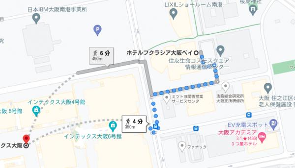 ホテルフクラシア大阪ベイ地図